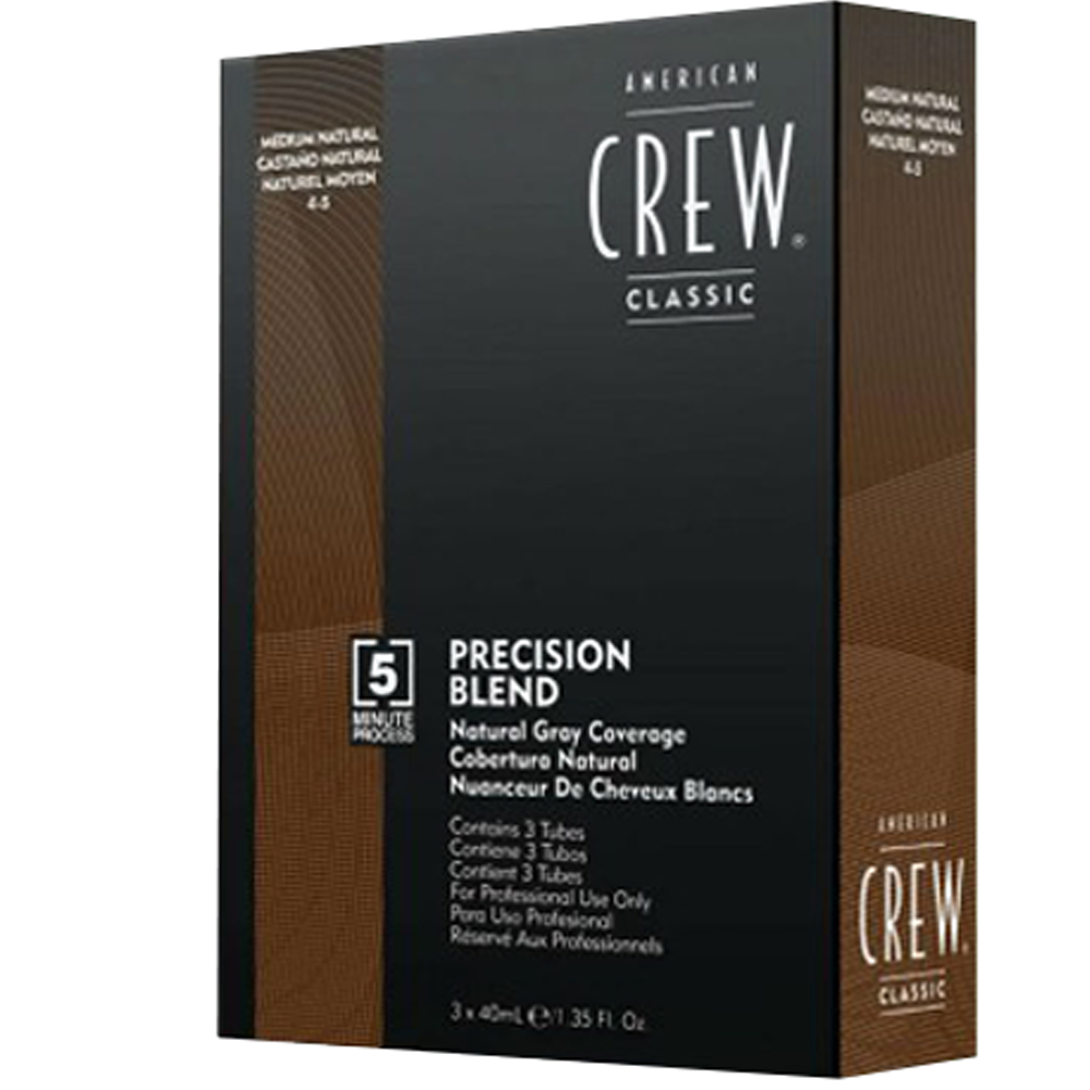 AMERICAN CREW Precision Blend Natural Gray Coverage 3x40ml 4-5 Medium Natural