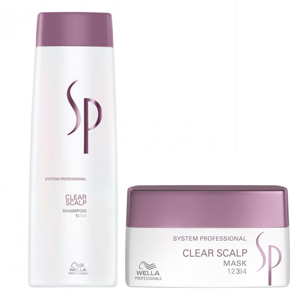 WELLA SYSTEM PROFESSIONAL Kit Clear Scalp Shampoo 250ml + Mask 200ml by WELLA  7426842419610