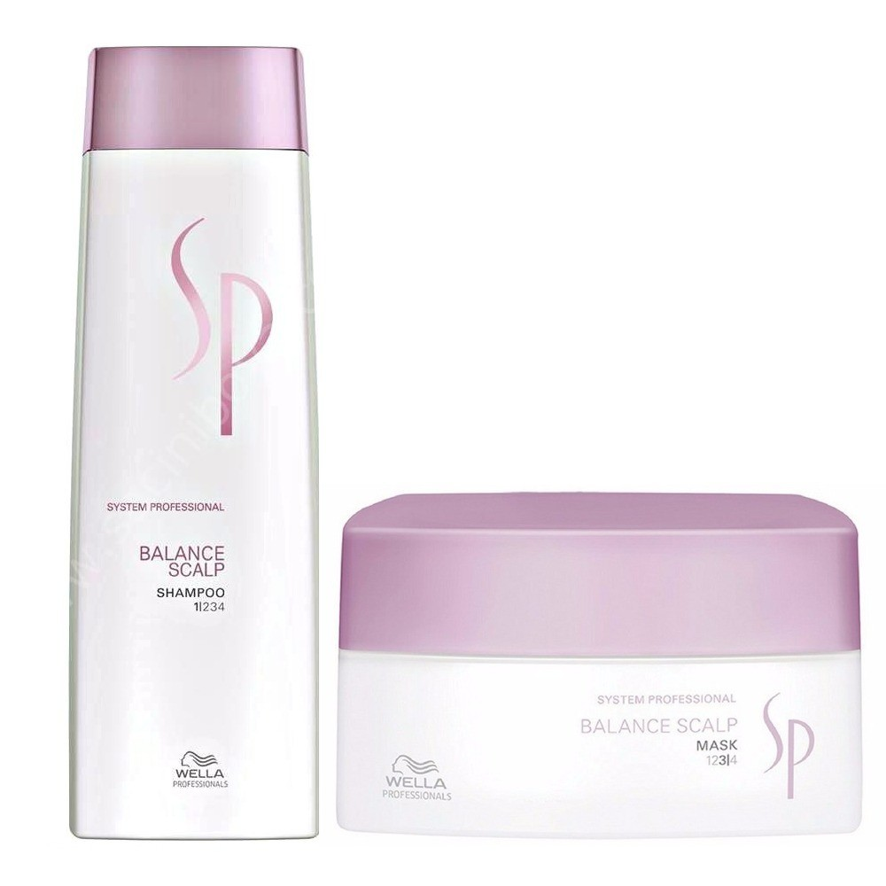 WELLA SYSTEM PROFESSIONAL Kit Balance Scalp Shampoo 250ml + Mask 200ml by WELLA  7426842419603