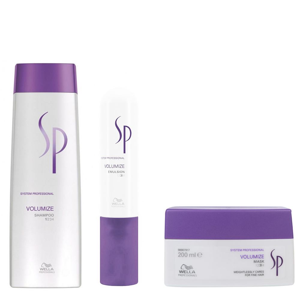 WELLA SYSTEM PROFESSIONAL Kit Volumize Shampoo 250ml + Mask 200ml + Emulsion 50ml by WELLA  7426842419580