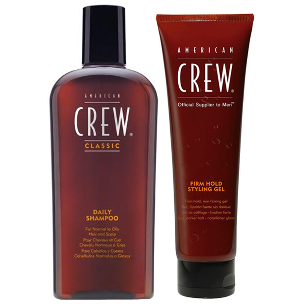 AMERICAN CREW Kit Daily Shampoo 250ml + Firm Hold Styling Gel 250ml