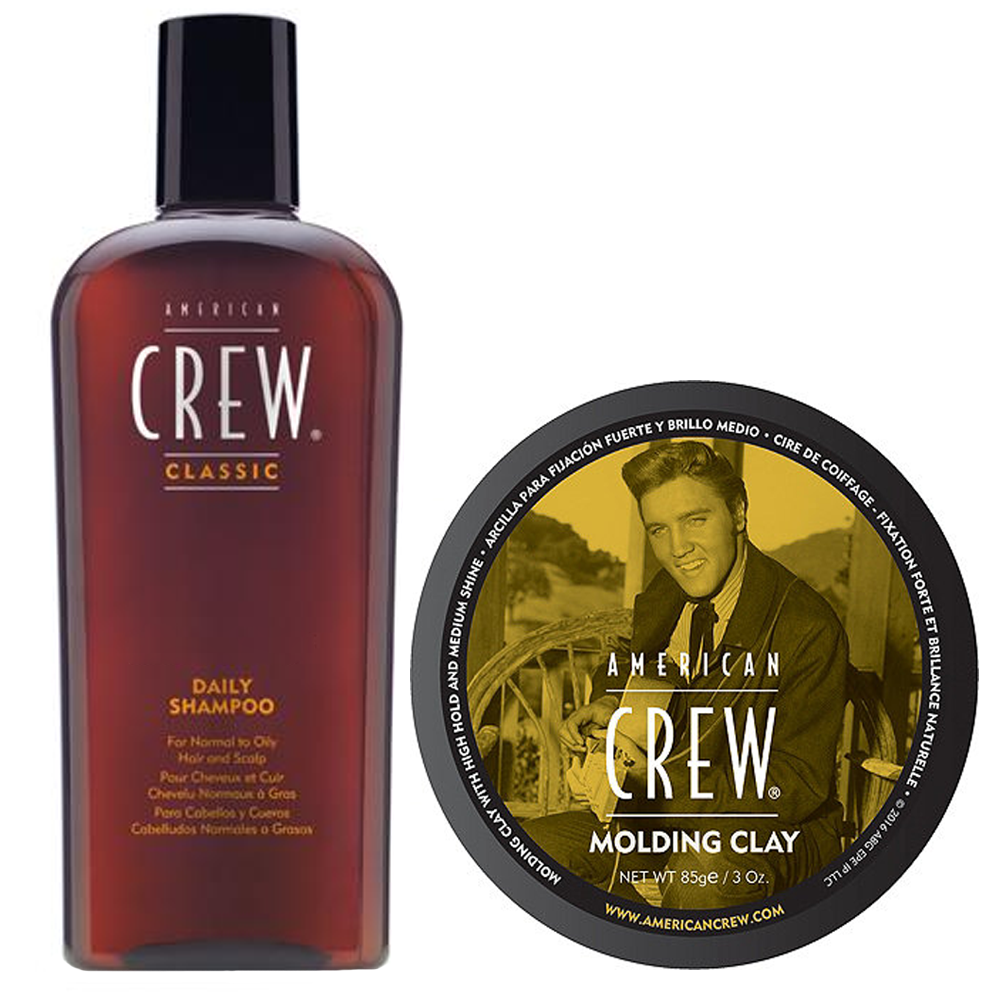 AMERICAN CREW Kit Daily Shampoo 250ml + Molding Clay 85gr