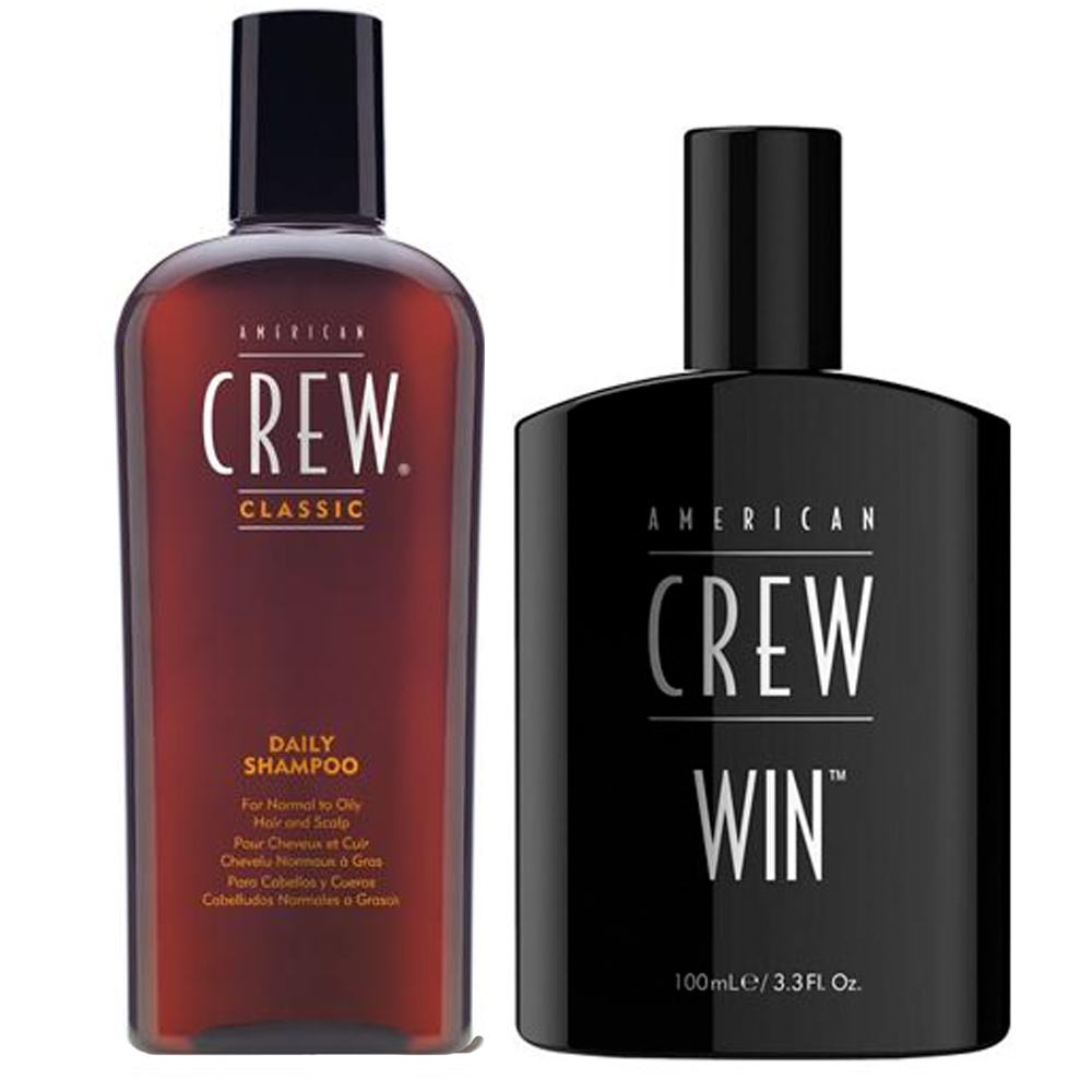 AMERICAN CREW Kit Daily Shampoo 250ml + Win Eau de Toilette 100ml