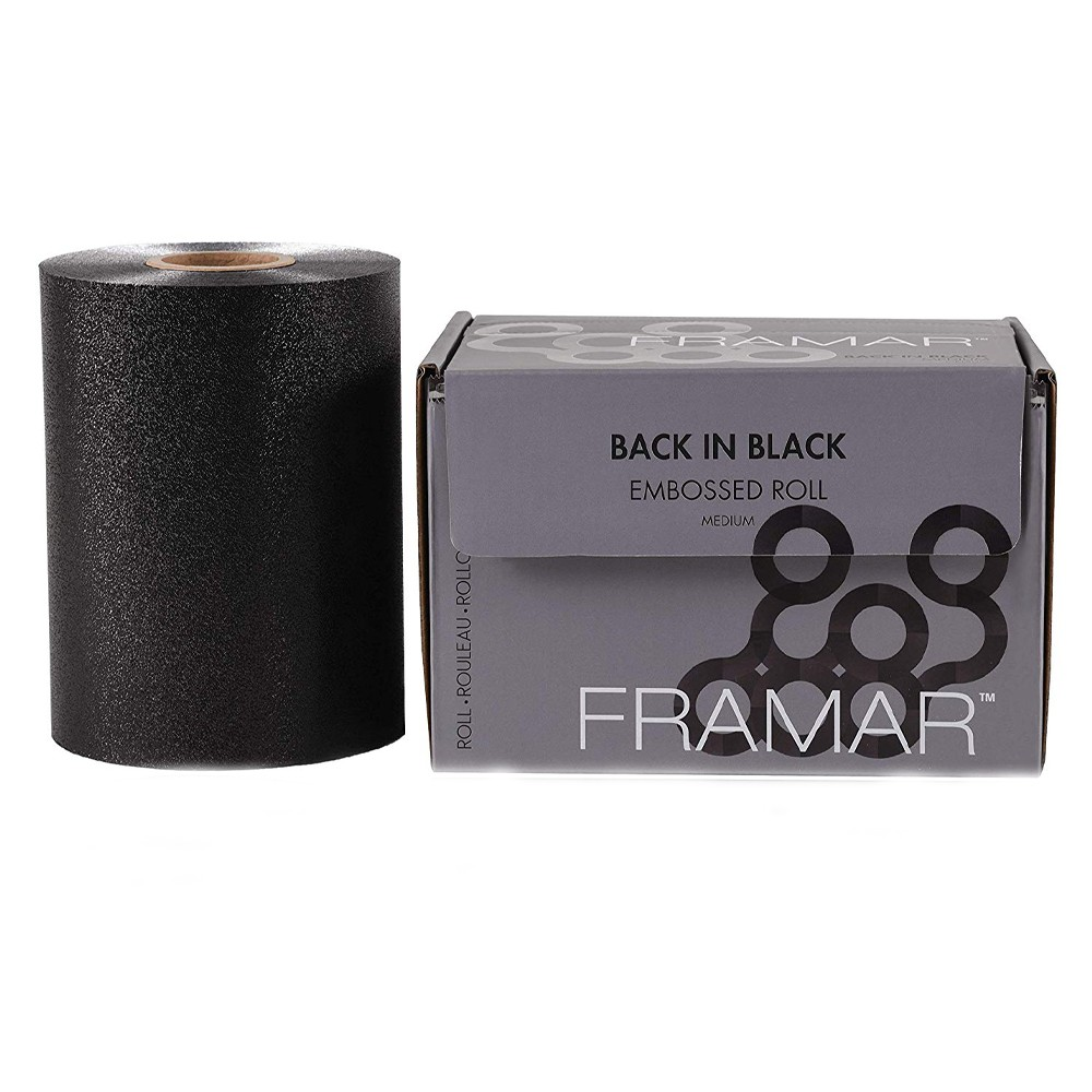 FRAMAR Back In Black Embossed Foil Roll Medium 100,6mt