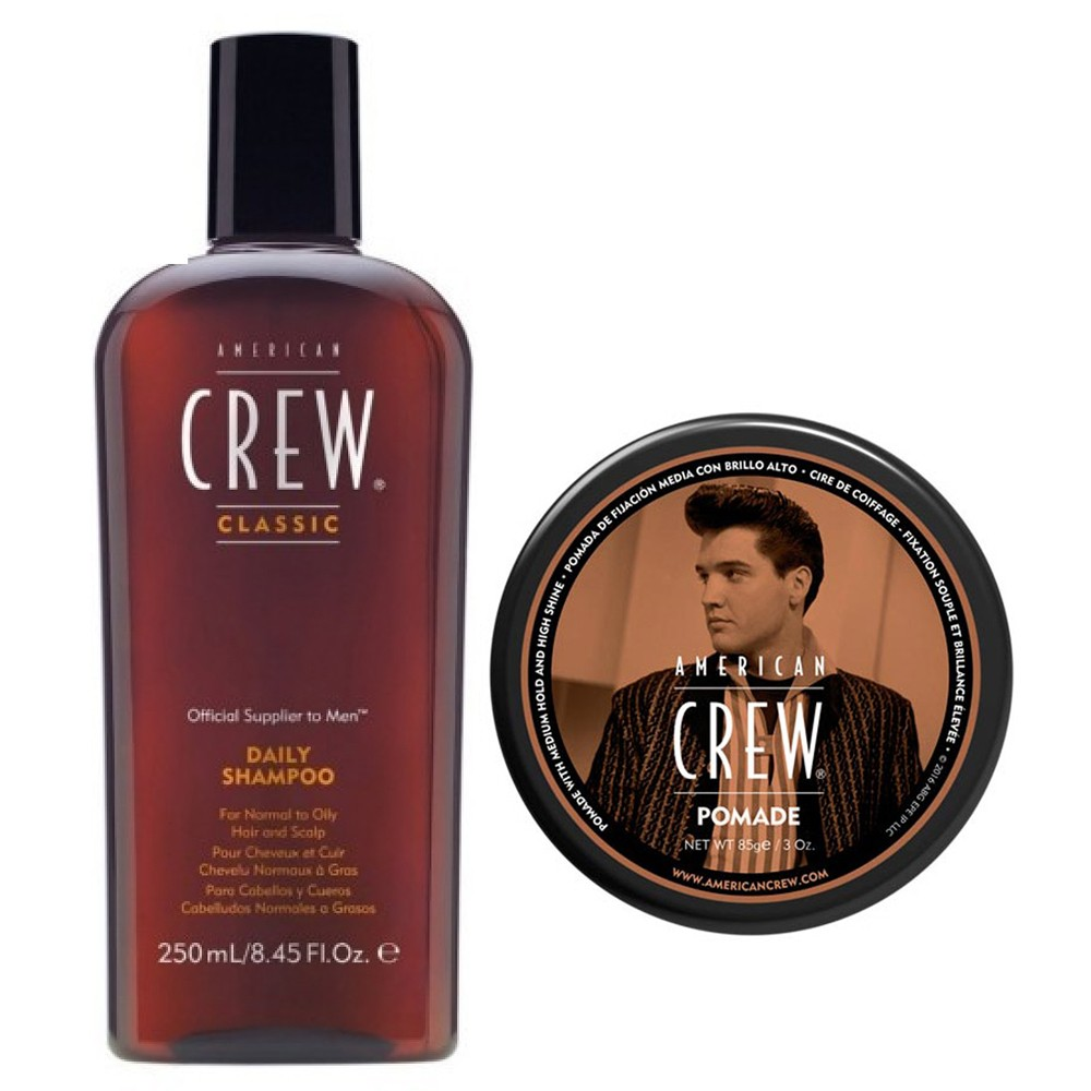AMERICAN CREW Kit Daily Shampoo 250ml + Pomade 85gr