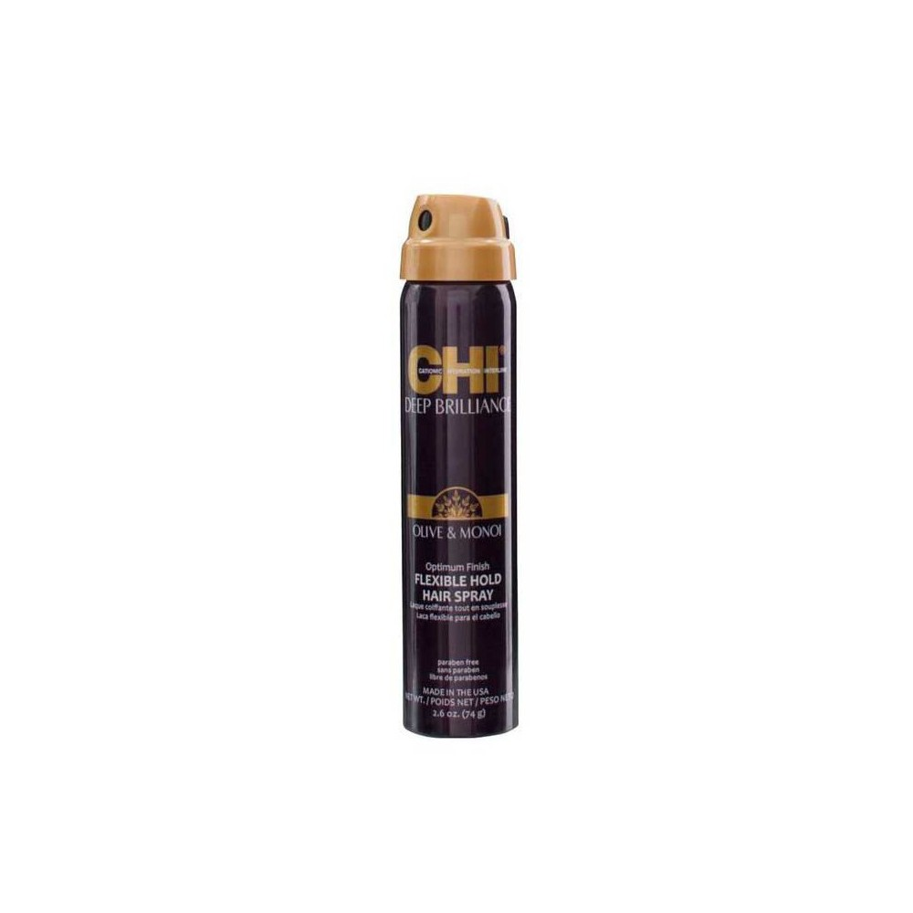 FAROUK CHI Deep Brilliance Olive&Monoi Optimum Flexible Hold Hair Spray 74g