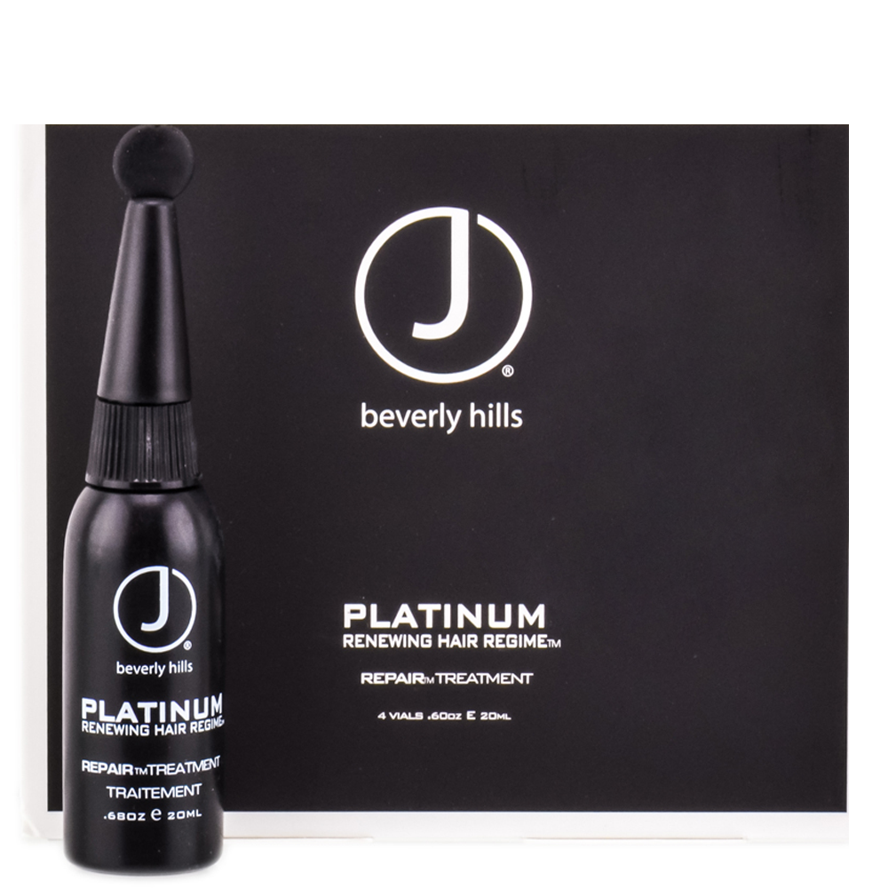 J BEVERLY HILLS Platinum Renewing Hair Regime Repair Treatment 4x20