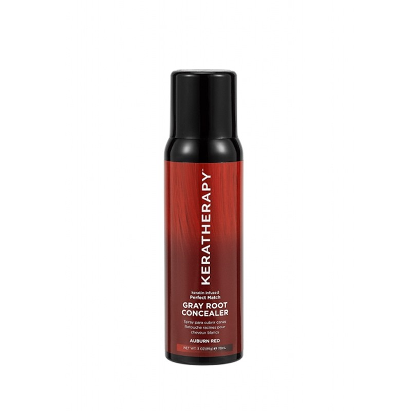 KERATHERAPY Keratin Infused Gray Root Concealer 118ml - Auburn Red