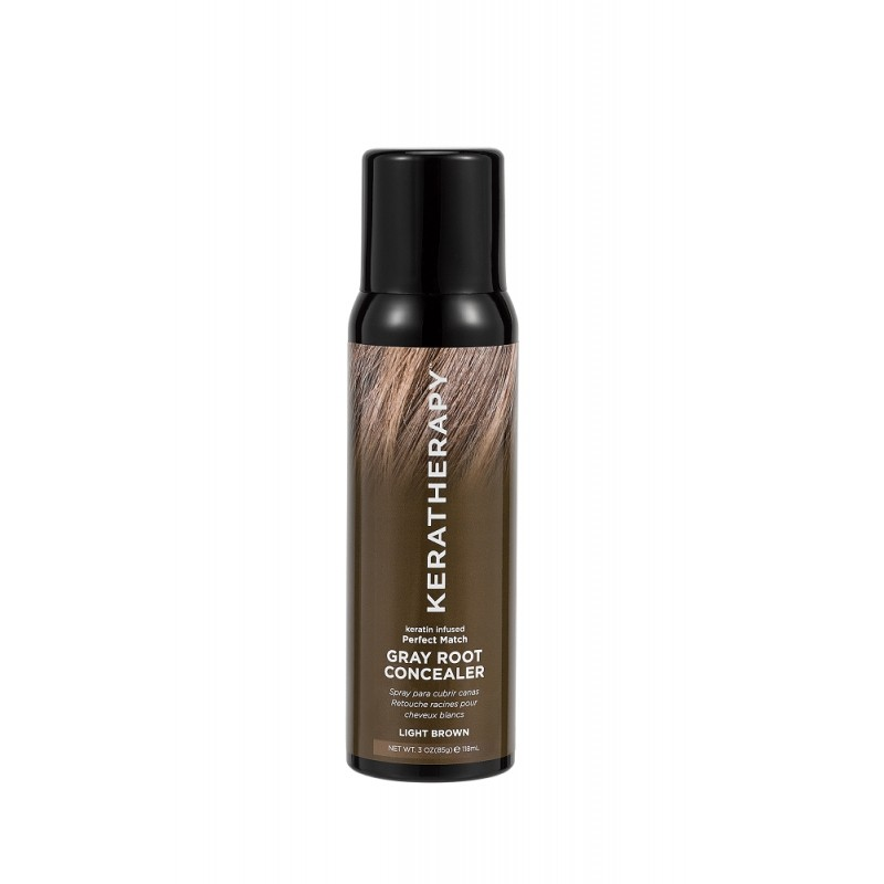 KERATHERAPY Keratin Infused Gray Root Concealer 118ml - Light Brown