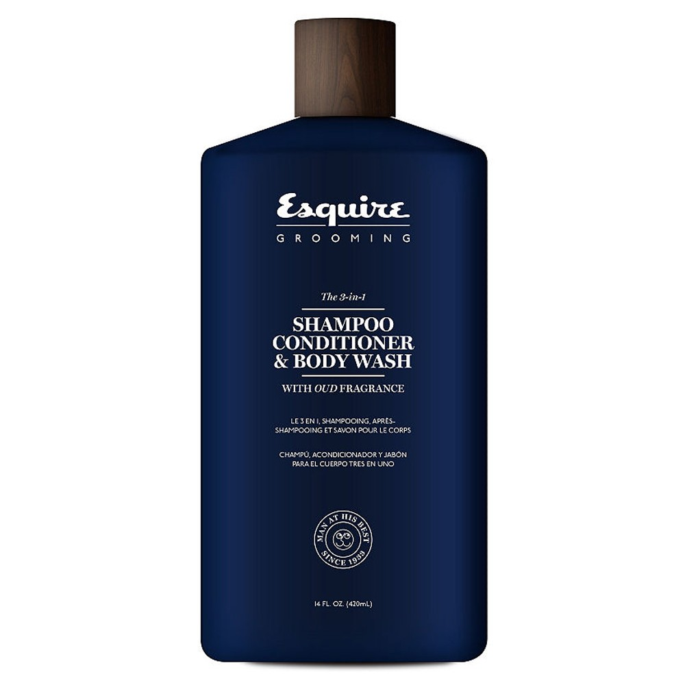 ESQUIRE The 3 in 1 Shampoo Conditioner & Body Wash 414ml