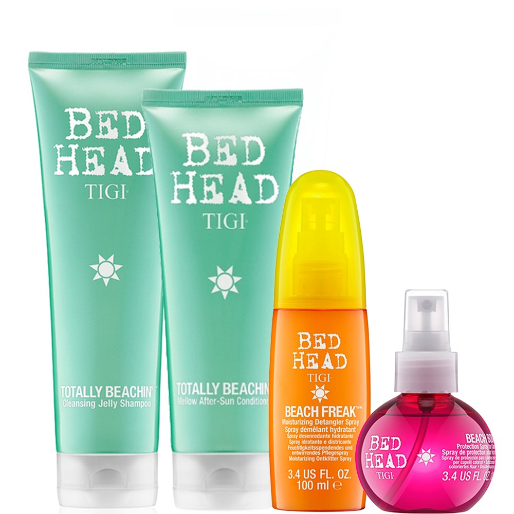 TIGI Kit Totally Beachin Shampoo + Balsamo + Beach Freak + Beach Bound