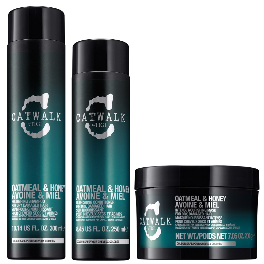 TIGI Kit Catwalk Oatmeal & Honey Shampoo 300ml + Balsamo 250ml + Mask 200ml