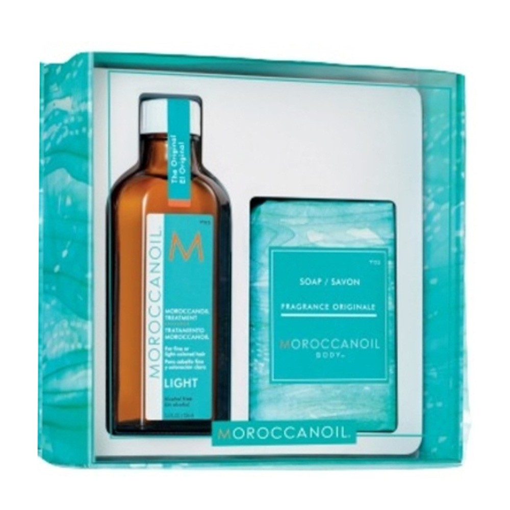MOROCCANOIL Kit  Home & Away Treatment Light 100ml + Soap 200gr